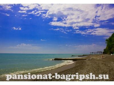 Пансионат «Багрипш», пляж