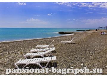 Пансионат «Багрипш», собственный пляж
